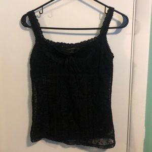 XS express black laced tank top